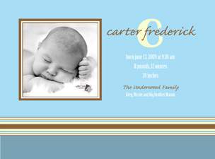 Carter Front Baby Announcements