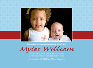Myles Front Baby Announcements